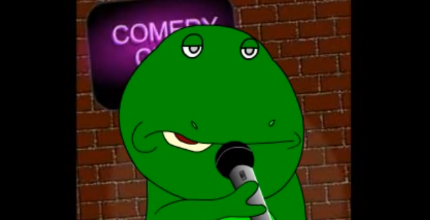 Douggie-Dinosaur-Tries-Stand-Up-Comedy