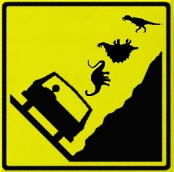 Falling_dinosaurs_zone_highway_sign_magnet-p147727549144805143bmmm2gru_400