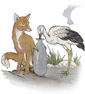 Aesop-fox-and-the-stork-270x300